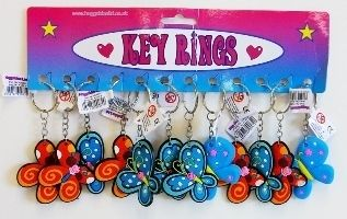 12 x Butterfly Key Chains.