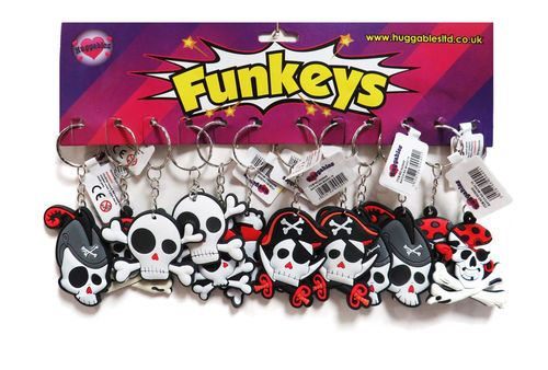 12 x Pirate PVC Key Chains.