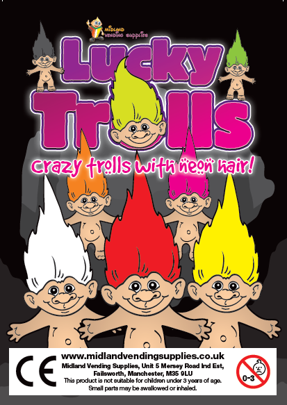 32mm Lucky trolls x 250