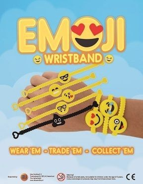 50mm Emoji Bracelets x 100 (CLEARANCE)