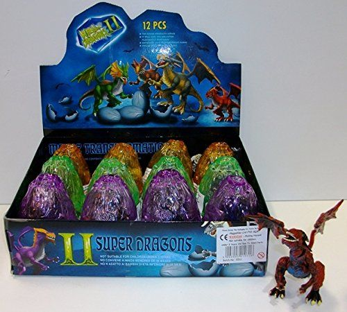 Buildable Dragons in Crystal Colour Eggs (12 per box)