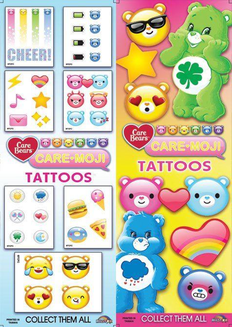 FLATPACK - Care-moji Tattoos x 300