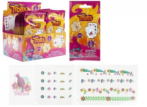 Trolls Tattoo Fun Set x 24